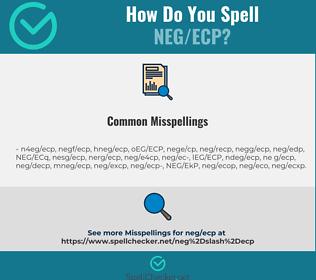 Correct spelling for NEG/ECP