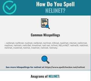 Correct spelling for NELINET