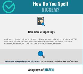 Correct spelling for NICSEM