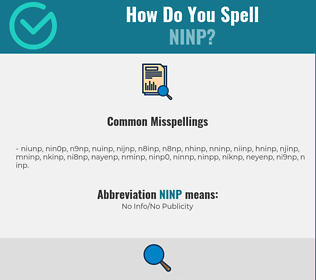 Correct spelling for NINP
