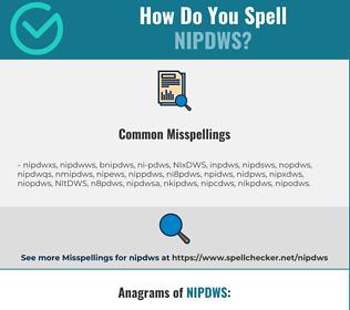 Correct spelling for NIPDWS