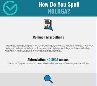 Correct spelling for NOLHGA