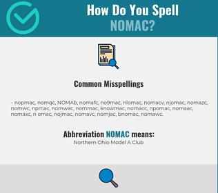 Correct spelling for NOMAC
