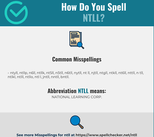 Correct spelling for NTLL