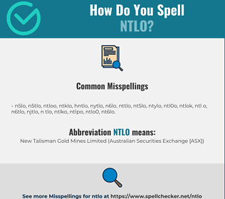 Correct spelling for NTLO