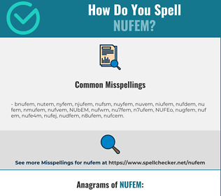 Correct spelling for NUFEM