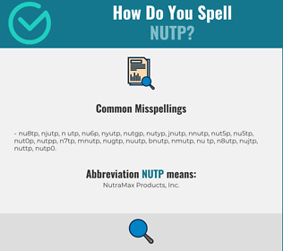 Correct spelling for NUTP