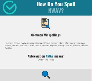 Correct spelling for NWAV