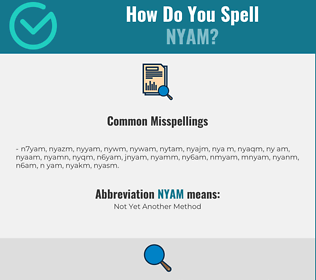 Correct spelling for NYAM