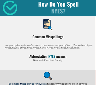 Correct spelling for NYES