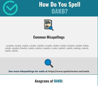 Correct spelling for OAKB