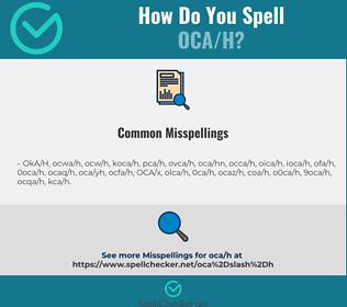 Correct spelling for OCA/H