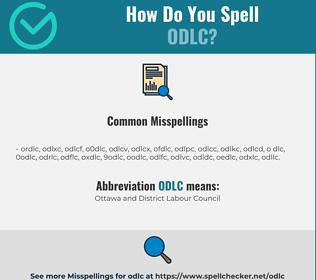 Correct spelling for ODLC