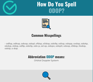 Correct spelling for ODOP