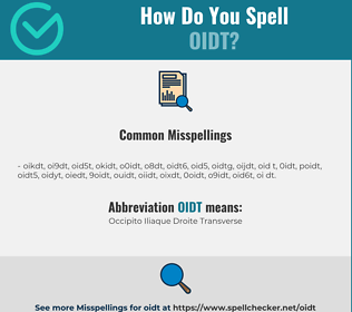 Correct spelling for OIDT