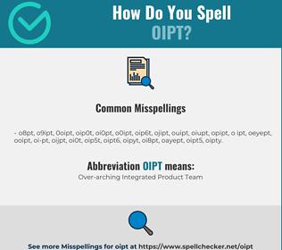 Correct spelling for OIPT