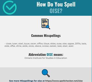 Correct spelling for OISE