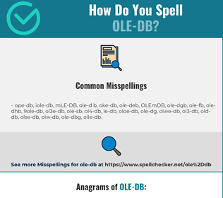 Correct spelling for OLE-DB