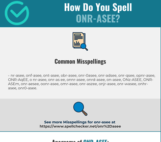 Correct spelling for ONR-ASEE