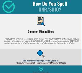 Correct spelling for ONR/SDIO