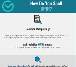 Correct spelling for OPIR