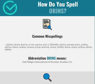 Correct spelling for ORINS