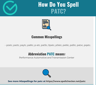 Correct spelling for PATC