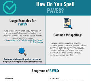 Correct spelling for PAVES