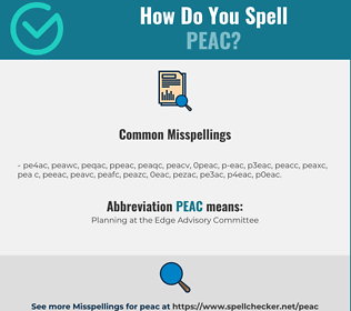 Correct spelling for PEAC