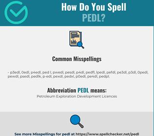 Correct spelling for PEDL