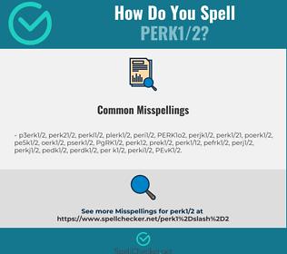 Correct spelling for PERK1/2