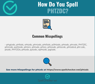 Correct spelling for PHTZDC