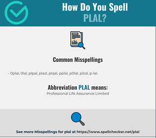 Correct spelling for PLAL