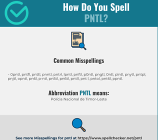 Correct spelling for PNTL