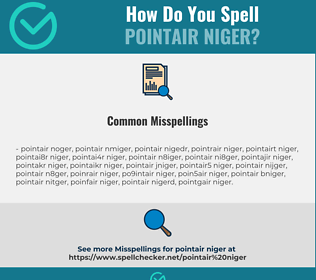 Correct spelling for POINTAIR NIGER