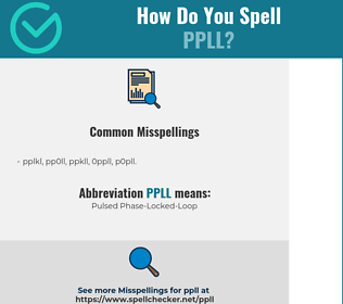 Correct spelling for PPLL