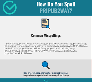 Correct spelling for PRIPUB2WAY