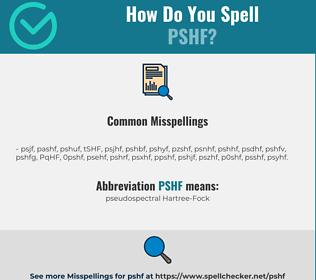 Correct spelling for PSHF