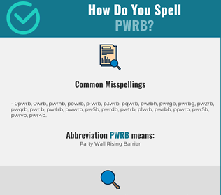 Correct spelling for PWRB