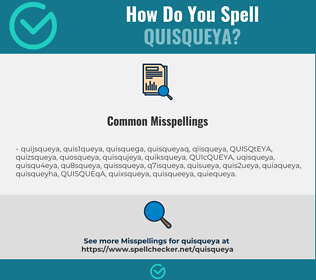 Correct spelling for QUISQUEYA