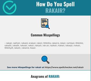 Correct spelling for RAKAIR