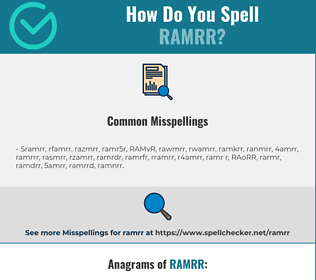 Correct spelling for RAMRR