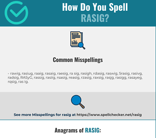 Correct spelling for RASIG