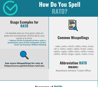 Correct spelling for RATO