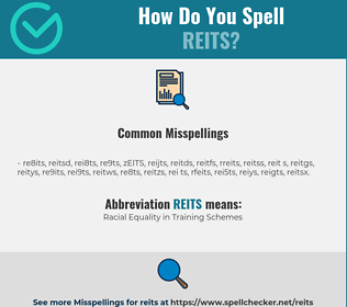 Correct spelling for REITS