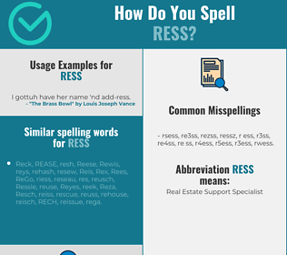 Correct spelling for RESS