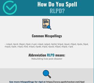 Correct spelling for RLPD