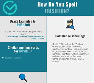 Correct spelling for RUSHTON