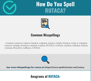 Correct spelling for RUTACA