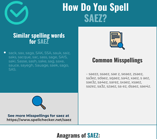 Correct spelling for SAEZ